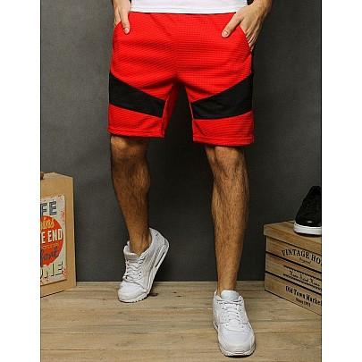 Piros férfi trendi rövidnadrág sx2051