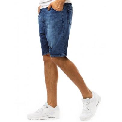 Kék férfi attraktív farmer rövidnadrág sx0999