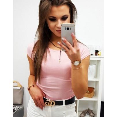Kényelmes női póló világos rózsaszín színű ry0738