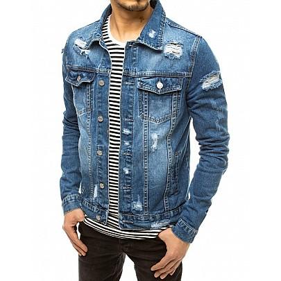 Szép kék férfi farmerkabát TX3618