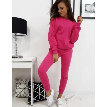 Női melegítő szett rózsaszín színben kapucni nélkül VAY0140