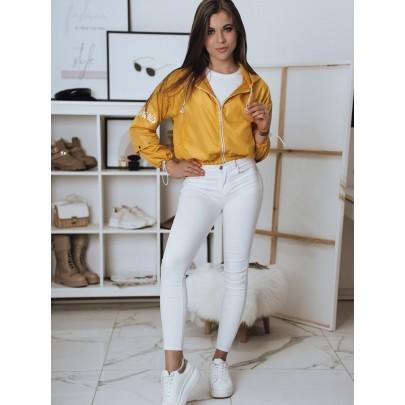 Sárga stílusos női kabát TY1822