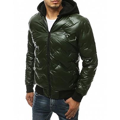 Érdekes férfi zöld kapucnis kabát tx3441