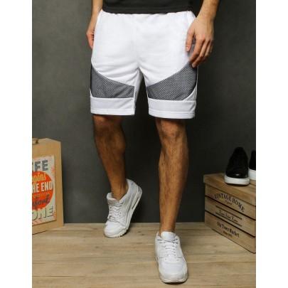 Férfi fehér trendi rövidnadrág sx1134