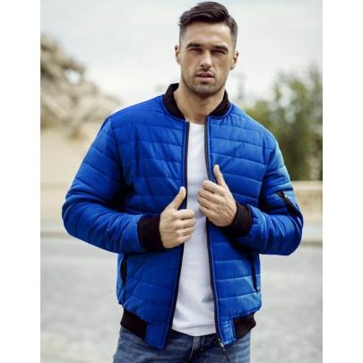 Kék steppelt férfi kabát tx2998