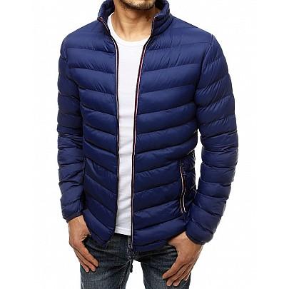 Férfi steppelt kék kabát tx3487