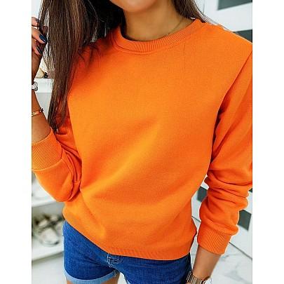 Női pulóver narancssárga színben vby0317