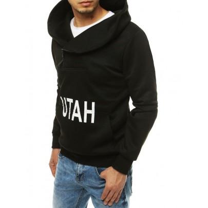 Férfi fekete pulóver UTAH felirattal bx4528