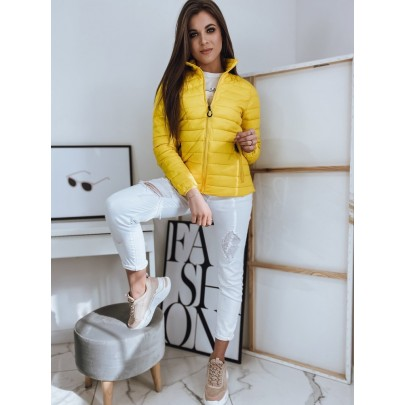 Női könnyű sárga steppelt kabát TY1742