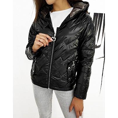Fekete női átmeneti kabát ty1273