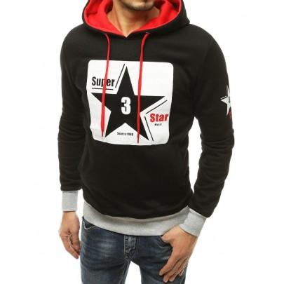 Férfi fekete pulóver csillaggal bx4870