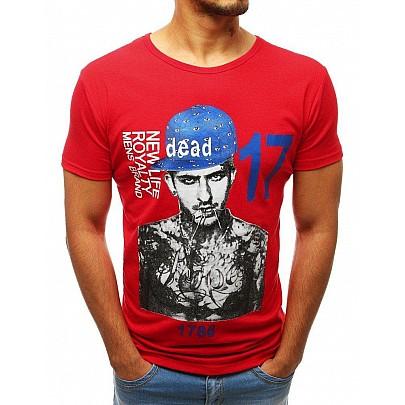 Piros egyedi férfi póló nyomtatással rx3515