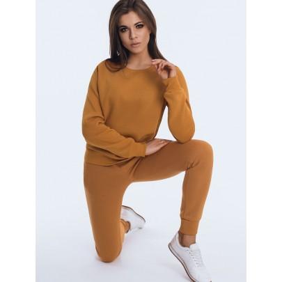 Női melegítő szett barna színben kapucni nélkül AY0505