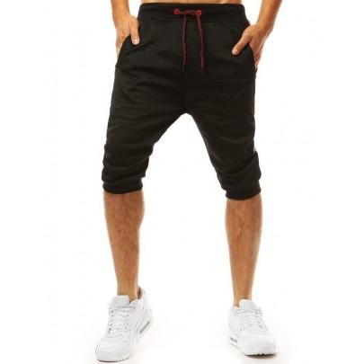 Kényelmes fekete férfi rövidnadrág sx1093