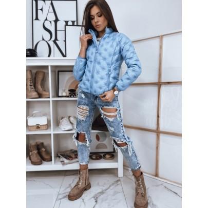 Stílusos női steppelt kabát kék TY1730