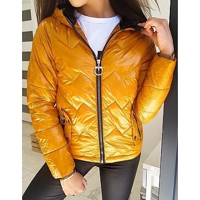 Tökéletes női sárga átmeneti kabát ty1407