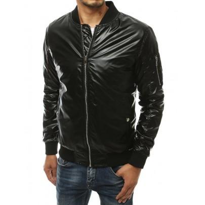 Trendi férfi fekete bomber kabát vtx3411