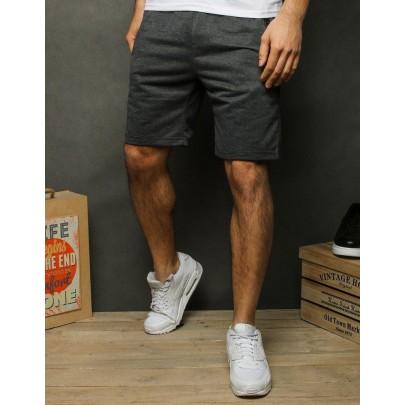 Feketés szürke trendi férfi rövidnadrág sx1199