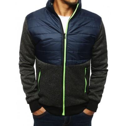 Sötét kék stílusos átmeneti férfi kabát tx2988