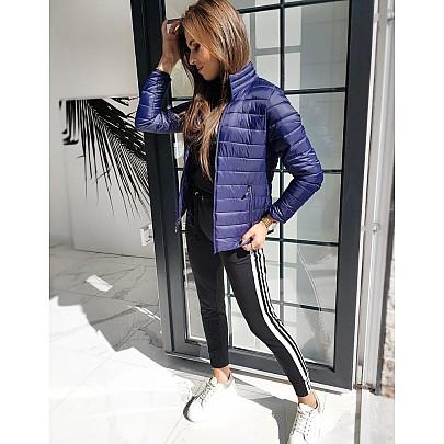 Női könnyű kék steppelt kabát ty1183