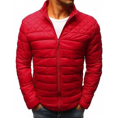 Elegáns steppelt piros férfi kabát tx2868