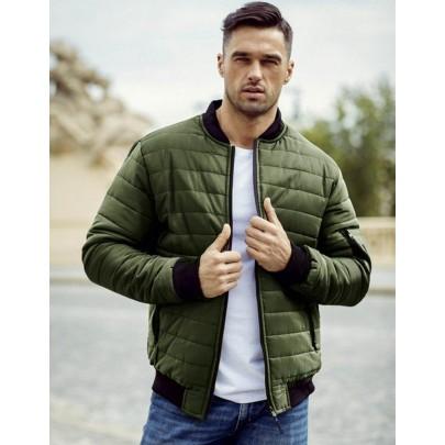 Zöld steppelt férfi kabát tx2211A