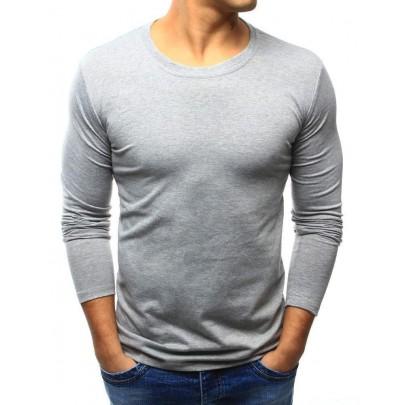 Egyszínű férfi póló szürke vlx0418