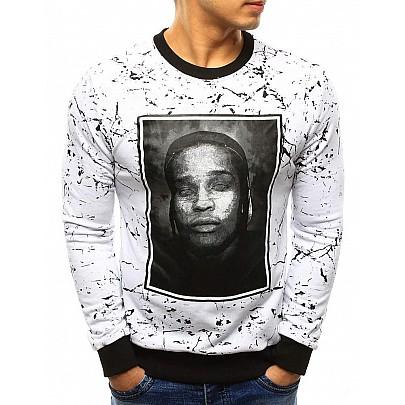 Fehér férfi pulóver bx3283