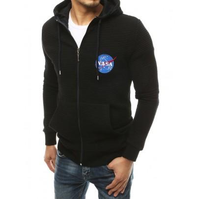 Fekete férfi melegítőfelső NASA felirattal bx4766