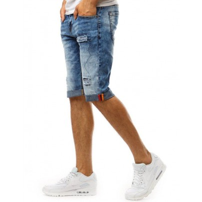 Trendi férfi kék farmer rövidnadrág sx1003