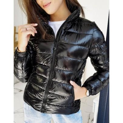 Női fekete steppelt kabát ty1340