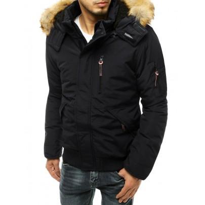 Férfi fekete téli kabát vtx3600