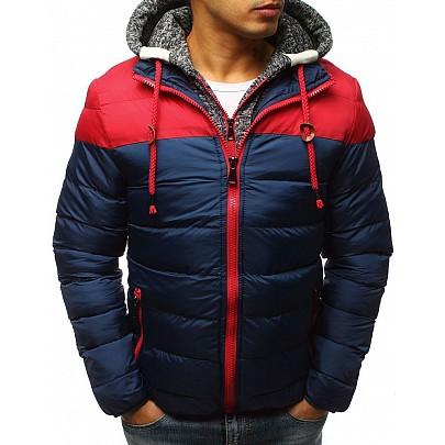 Vonzó férfi téli dzseki sötét kék vtx2504