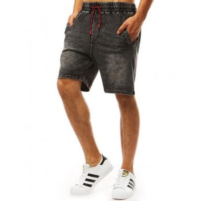 Attraktív férfi farmer rövidnadrág fekete színben sx0991